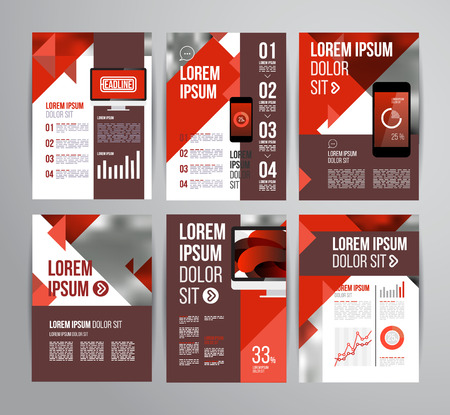 vector design brochure template with statistic and infographic