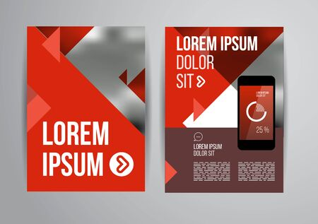 element template: Vector design brochure template with statistic and infographic for business flyer or presentation. Trend design. Illustration