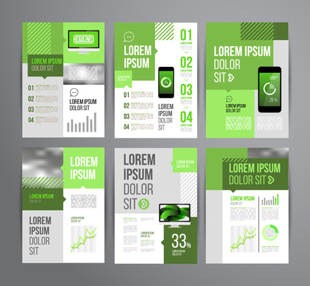 Vector design brochure template with statistic and infographic for business flyer or presentation. Trend design.  イラスト・ベクター素材