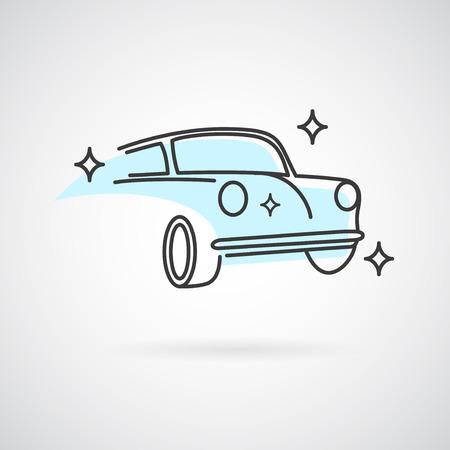 autolavaggio: Autolavaggio. Modello di vettore per il servizio di auto o lavaggio del business.