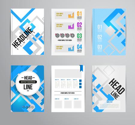 portadas: Vector plantilla brochur moda. Ilustración, diseño colorido para la revista impresa, folleto, presentación. con infografía y titular.