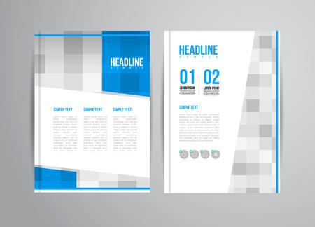 folders: Volante Vector plantilla de diseño con la ilustración de la tendencia. Para la presentación de negocios, folleto. Vectores