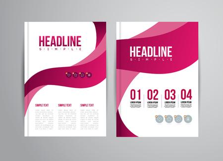 portadas: Volante Vector plantilla de dise�o con la ilustraci�n de la tendencia. Para la presentaci�n de negocios, folleto. Vectores