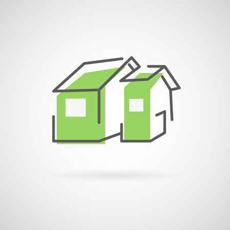 house: Vector house. Trendy icon for business. Illustration