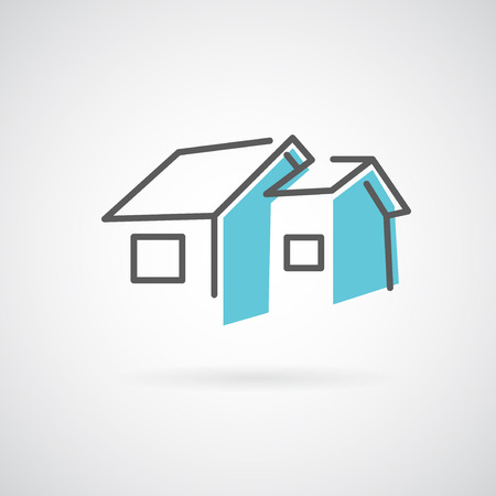 Vector house. Trendy icon for business.  イラスト・ベクター素材