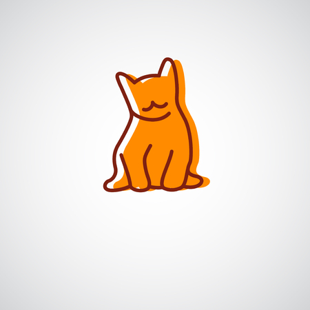 pets: Pet shop. Cat vector icon.