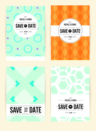 Vector card set templates abstract background illustration for abstract background illustration for save the date baby shower mothers day valentines day birthday cards invitations and more filmwisefo