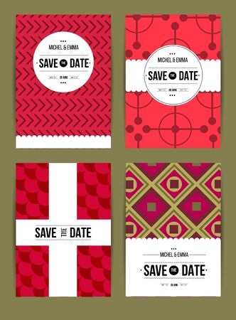 birthday cards: Vector card set templates. Abstract background illustration for Save The Date, baby shower, mothers day, valentines day, birthday cards, invitations and more.