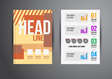 Flyer, Brochure Design Templates. Geometric Abstract Modern Backgrounds. Presentation, Brochure or Flyer Infographic Concept. Vector
