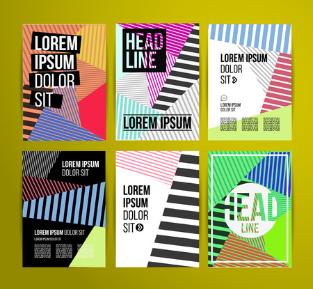 Flyer, Brochure Design Templates. Geometric Abstract Modern Backgrounds. Presentation, Brochure or Flyer Infographic Concept.