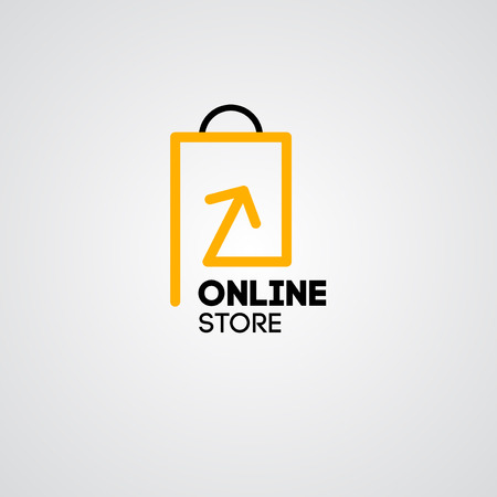 shopping cart: Online shop vector icon. For business.