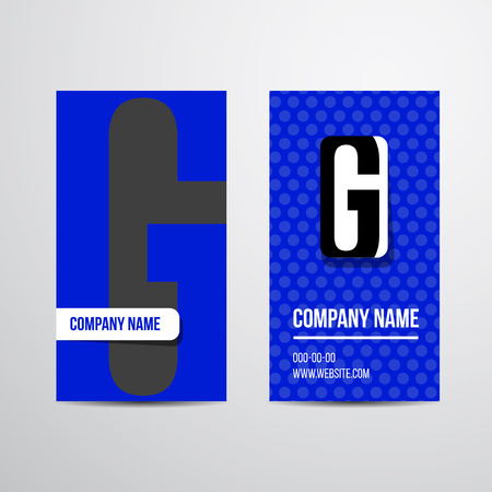 business card: Vector business card with letter. For company business card.