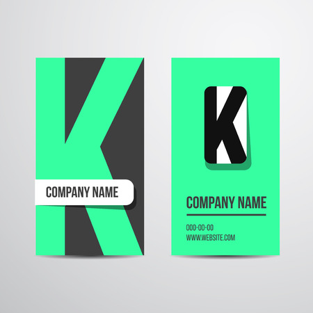 carte visite: Vector business card with letter. For company business card.