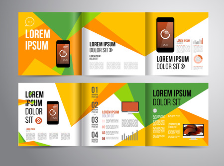 booklet: Vector design brochure template with statistic and infographic for business flyer or presentation. Trend design. Illustration