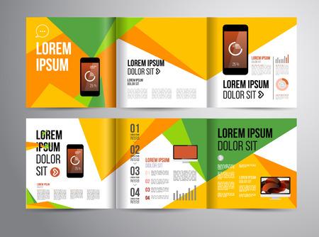 Vector plantilla de folleto con el diseño estadístico y infografía para el aviador de negocios o presentación. Diseño de tendencia. Foto de archivo - 40480390