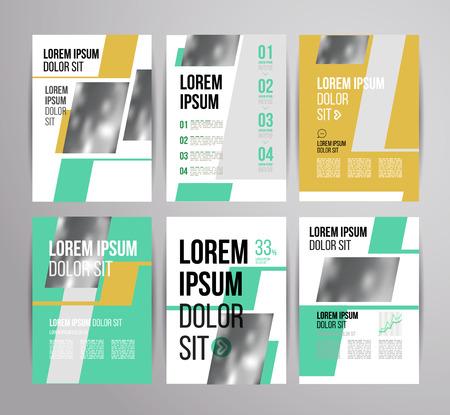 Vector ontwerp brochure sjabloon met statistiek en informatie grafische voor zakelijke flyer of presentatie. Trend design. Stock Illustratie