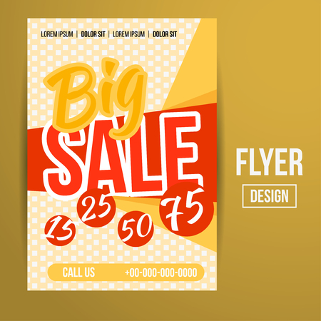 Abstract Vector Creative Sale Flyers, can be used as poster or banner design. For shopping.