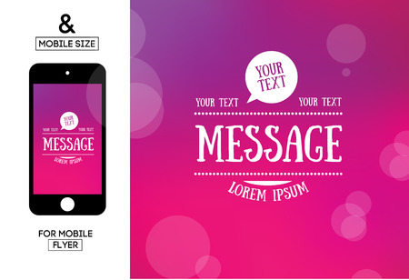 message text: Abstract vector blurred background with message text typography and bubble
