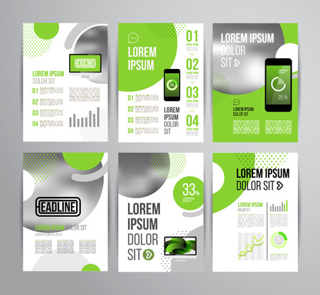 Vector design brochure template with statistic and infographic for business flyer or presentation. Trend design. 向量圖像