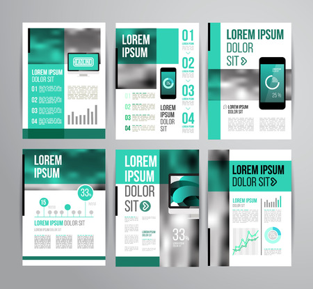 Vector design brochure template with statistic and infographic for business flyer or presentation. Trend design. Ilustração