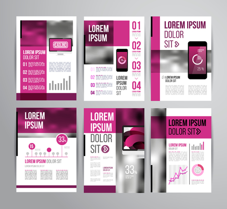 layout: Vector design brochure template with statistic and infographic for business flyer or presentation. Trend design. Illustration