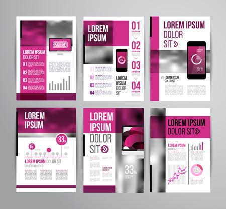 Vector plantilla de folleto con el diseño estadístico y infografía para el aviador de negocios o presentación. Diseño de tendencia. Foto de archivo - 40481093