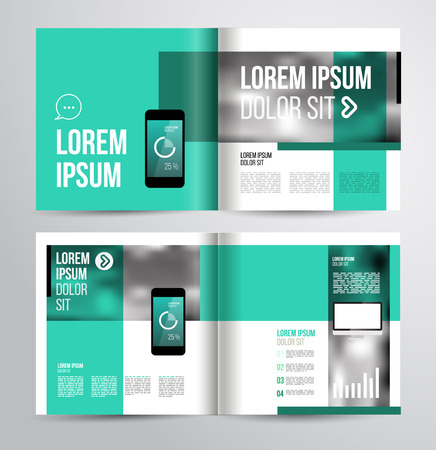 book page: Vector design brochure template with statistic and infographic for business flyer or presentation. Trend design. Illustration