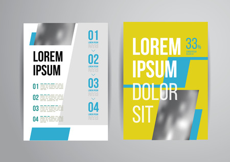 cover: Vector design brochure template with statistic and info graphic for business flyer or presentation. Trend design.