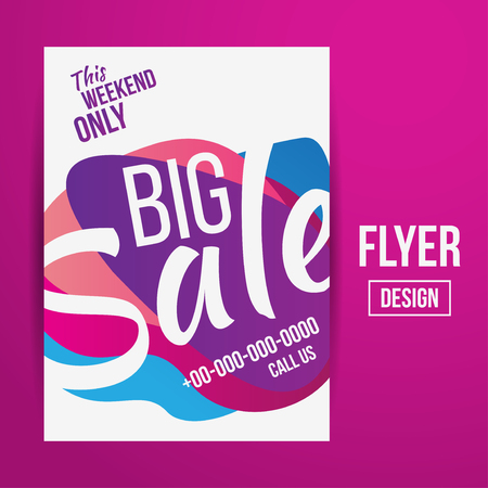 promotional offer: Abstract Vector Creative Sale Flyers, can be used as poster or banner design. For shopping.