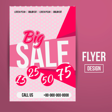 bargains: Abstract Vector Creative Sale Flyers, can be used as poster or banner design. For shopping.