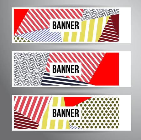 Abstract striped banners for Modern Hipster Cover Design.