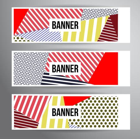 Banderas rayadas abstractos para Modern Hipster diseño de portada. Foto de archivo - 40486282
