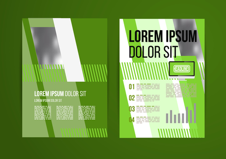 Vector design brochure template with statistic and infographic for business flyer or presentation. Trend design. Vector