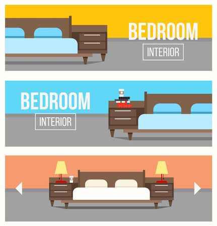 bedroom: Bedroom interior design banners.