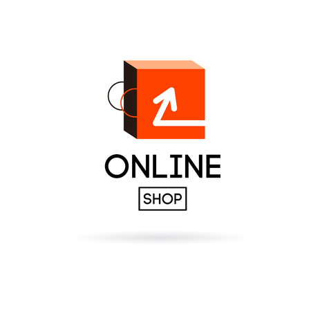 online shop: Online shop vector. For business.