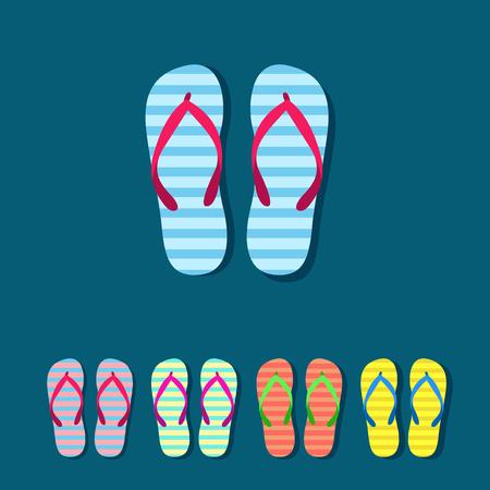 flipflop: Colorful flip flops set