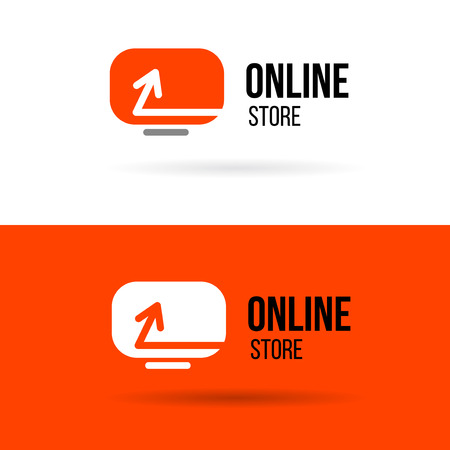 Online shop vector. For business.