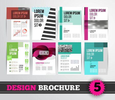 flyer: Vector design brochure template for business flyer or presentation. Trend design mega set.