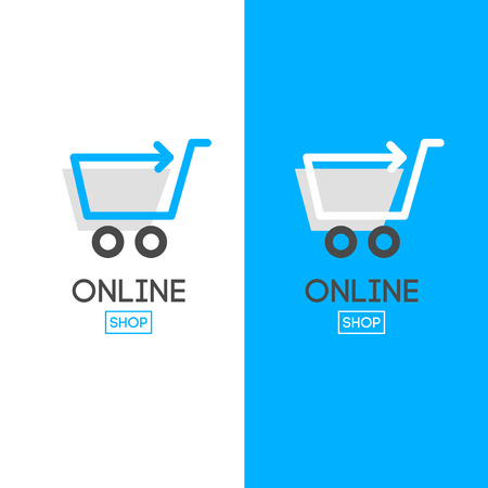 Online shop vector. For business.