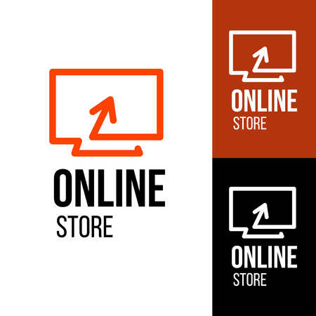 online logo: Online shop vector logo. For business. Illustration