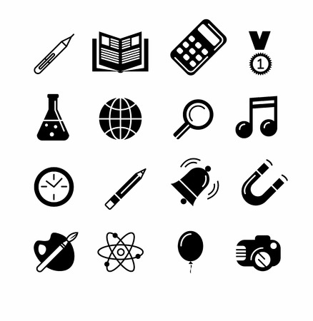 pen and paper: Education and learning icon set. Elements for print, mobile and web applications. Illustration