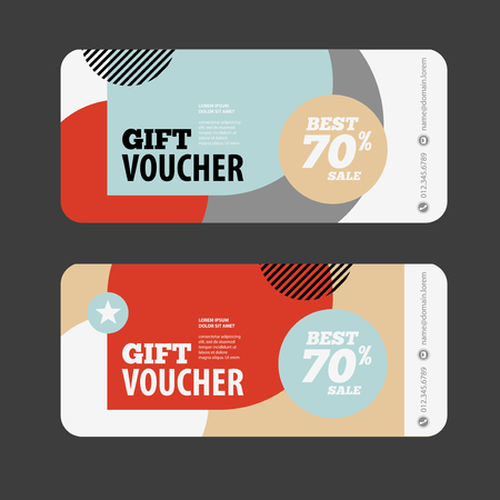 abstract gift voucher or coupon design template voucher design