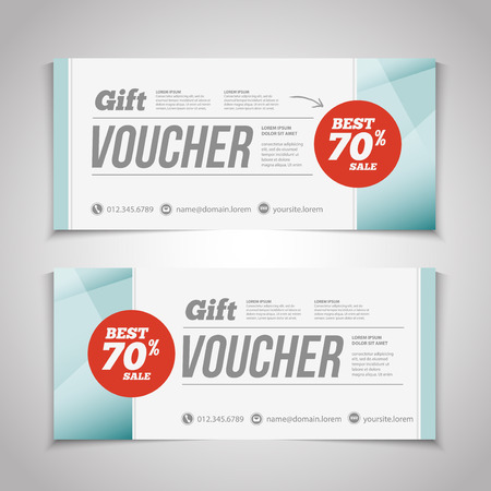 Abstract Gift Voucher Or Coupon Design Template. Voucher Design, Blank,  Print Design,  Coupon Flyer Template