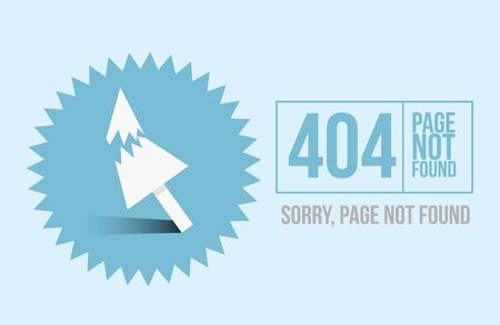 Page not found Error 404 design for website or blog in flat style. Vector illustration