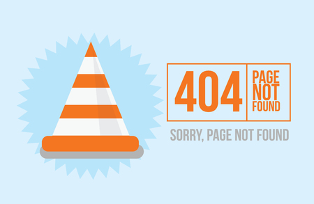 not found: Page not found Error 404 design for website or blog in flat style. Vector illustration Illustration
