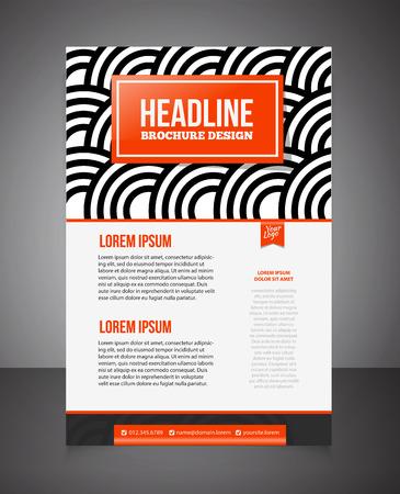 promotion: Business brochure or offer flyer design template. Brochure design, blank, print design, flyer. Flyer template. Business brochure background for print. Front page