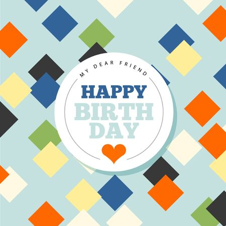 editable sign: Background with happy birthday typography. Invite birthday card.