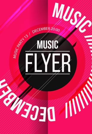 sensation: Party Flyer. Club music flyer. DJ lineup design. Vector template