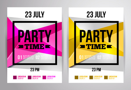 poster template: Party flyer design. Disco template. Vector illustration. For night club.