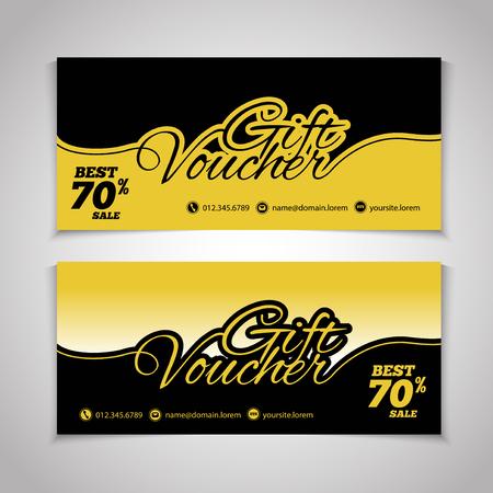 restaurant bill: Abstract gift voucher or coupon design template. Voucher design, blank, print design, coupon. Gift voucher vector. Coupon template. Flyer design. Flyer template. Voucher abstract design. Voucher background Illustration